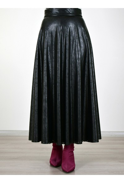 Sew&Design Jasmin Lazer Deri Etek Siyah