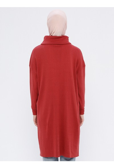 Çat Pat Tekstil Cep Detaylı Tunik Kiremit