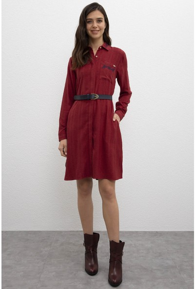 U.S. Polo Assn. Kadın Dokuma Elbise 50207763-VR014