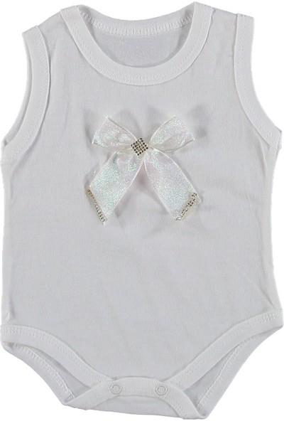 2Bebek Fiyonklu Kız Bebek Çıt Çıtlı Body