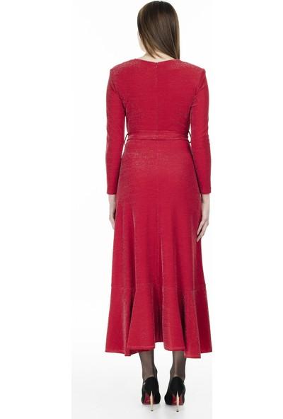 Via Dante Kruvaze Yaka Asimetrik Kesim Elbise Kadın Elbise 04661148Vd