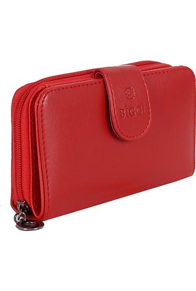 Biggi 0984 Kırmızı Orta Boy Cüzdan