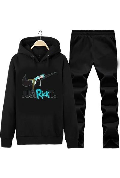 Art T-Shirt Just Rick It Unisex Kapüşonlu Eşofman Takımı