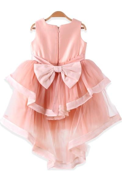 Breeze Kız Çocuk Abiye Elbise Tüllü Bolerolu Somon 2-6 Yaş