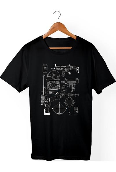 Muggkuppa Pubg Çocuk Siyah T-shirt