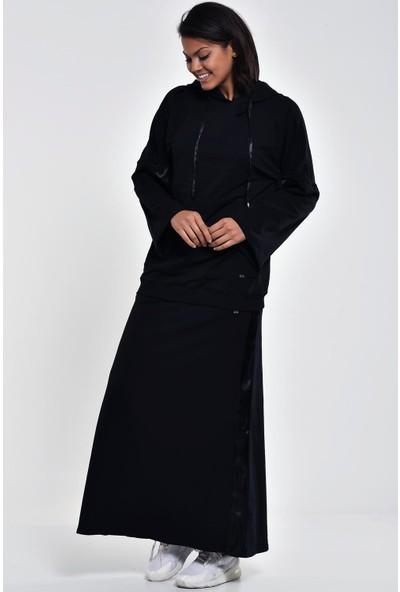 Ultimod Siyah Kapüşonlu Cepli Sweatshirt ULT211249
