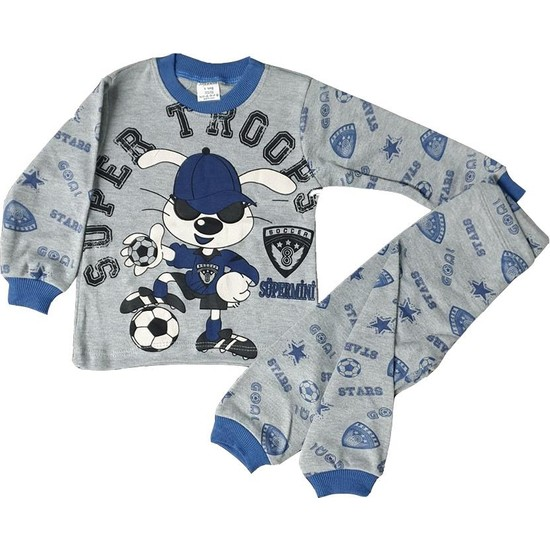 Süper Mini Futbolcu Desenli Pijama Takımı