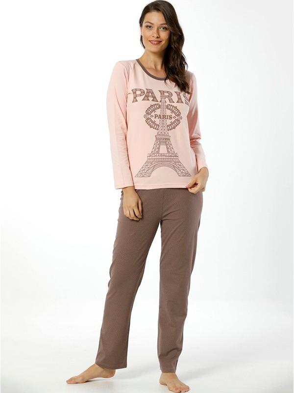 Akbeniz Kadın Uzun Kol Pijama Takımı 2445