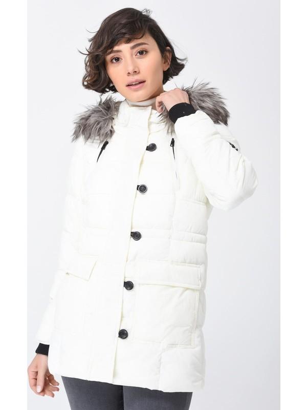 Only Kadın Günlük Montu 15161175-Cloud-Dancer Onlnewottowa Nylon Coat Otw