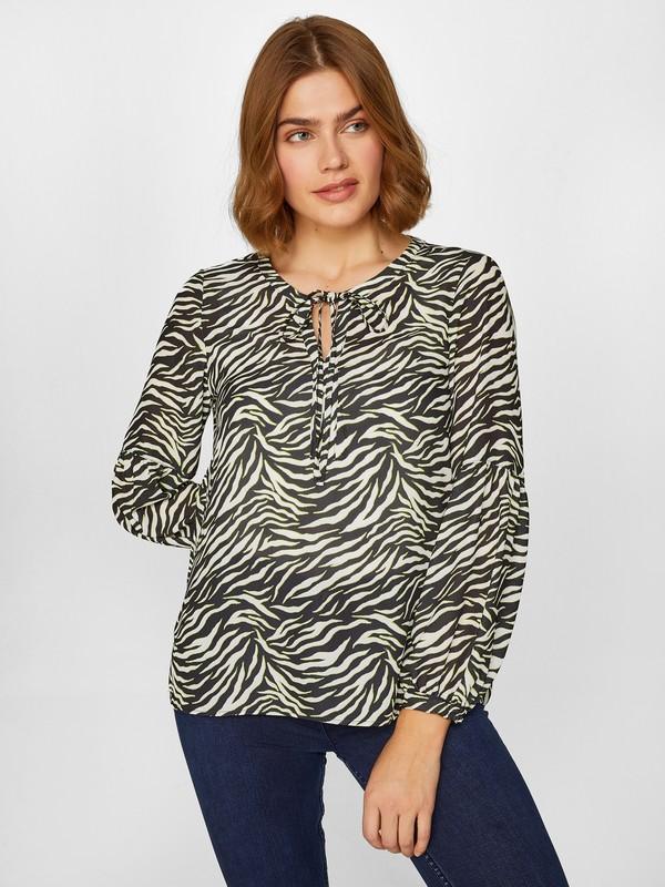 Faik Sönmez Kadın Desenli Bluz 60147