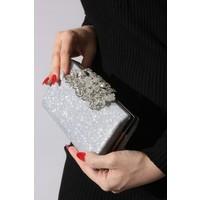 Rovigo Plus Gümüş Simli Kadın Çanta