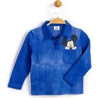 Mickey Mouse Polo Yaka Uzun Kol T-Shirt 16043