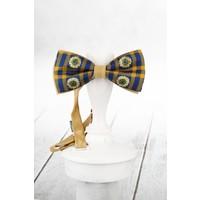 Kravatkolik Sarı Lacivert İpek Papyon SB157