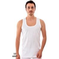 Tutku 12 Adet Erkek Penye Atlet Beyaz 0101