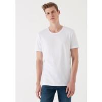 Beyaz Basic Tişört 065574-620