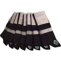 Emre 10'Lu Siyah Bambu Mevsimlik Erkek Çorap
