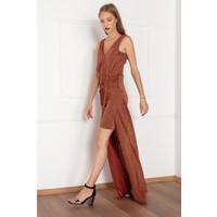 Kalopya Kadın Dawn 13018 Simli Kuyruklu Kısa Elbise