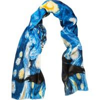 Galiga İpek Fular Starry Night 165 Mavi