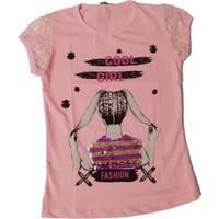 Bittoş Kız Çocuk Pullu Tişört