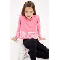 DeFacto Kız Çocuk Yazı Baskılı Sweatshirt M4319A620SP