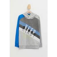 DeFacto Erkek Çocuk Renk Bloklu Kapüşonlu Baskılı Sweatshirt N0930A620SP