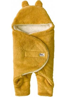 Owli Bebek Kışlık Dış Kundak Battaniye 0-6 Ay Hardal