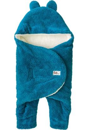 Owli Bebek Kışlık Dış Kundak Battaniye 0-6 Ay Turkuaz