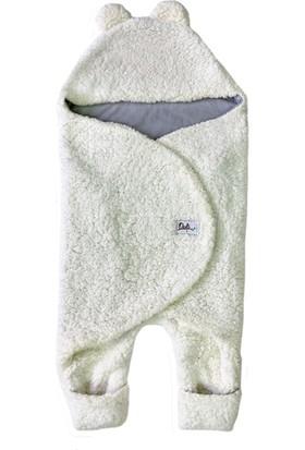 Owli Bebek Kışlık Dış Kundak Battaniye 0-6 Ay Krem