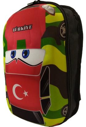 Pyrz Araba Kabartmalı Türkiye Bayraklı Okul Çantası