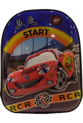 Pyrz Yarış Arabası Desenli Okul Çantası