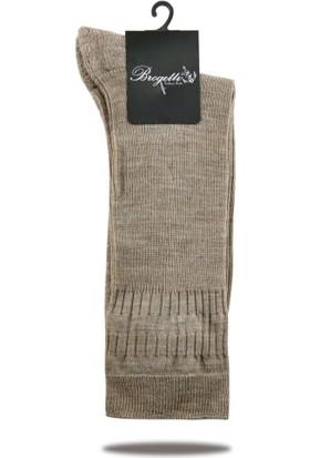 Socks Concept Bej Renk Lana Yün Diyabetik Çorap Ultra Rahat Lastikli Brogetti