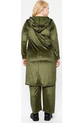 Gelince Kadın Boydan Fermuarlı 2'Li Takım