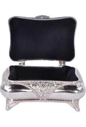 Zücace Gümüş Renk Desenli Kutu