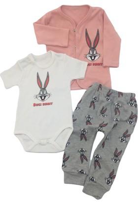 Babydoss Baby Penye Ceketli Tavşan 3 Lü Takım