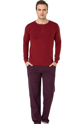 Akare 311 Mevsimlik Likralı Uzun Kollu Cepli Erkek Pijama Takımı Ev Pijaması