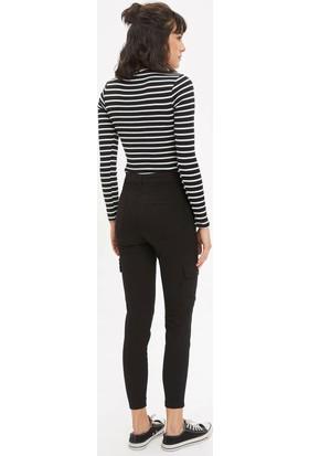 DeFacto Kadın Anna Super Skinny Dokuma Pantolon