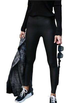 Mojerhermosa Tayt Deri Pamuklu Siyah 40