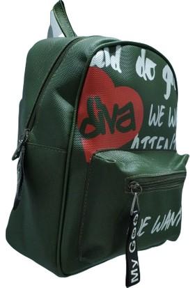 Çantika Diva Sports Kadın Sırt Çanta Yeşil