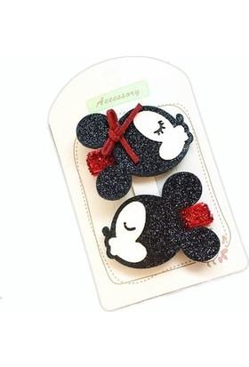Şirin Şeyler Butiği Mini Miki Mouse 2'li Saç Tokası