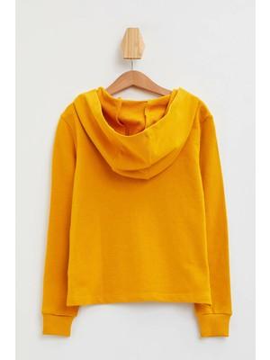DeFacto Kız Çocuk Baskılı Kanguru Cepli Sweatshirt N2129A620SP
