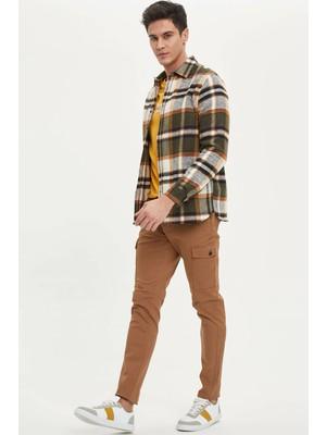 Defacto Slim Fit Beli Bağcıklı Kargo Pantolon M7832AZ20SP