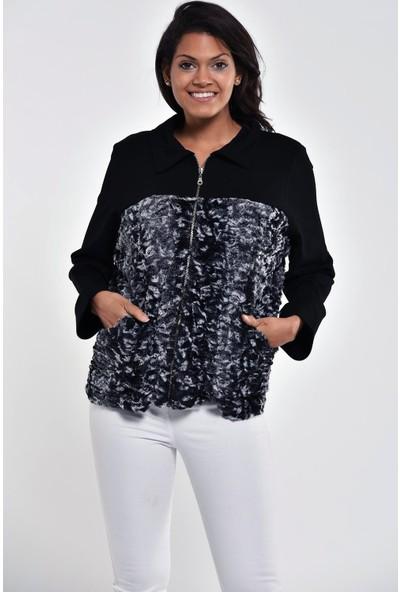 Ultimod Siyah Gömlek Yaka Cepli Ceket ULT5255