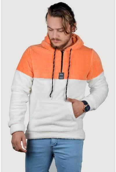 Terapi Men Erkek Peluş Sweatshirt 9K-5200187-084 Somon