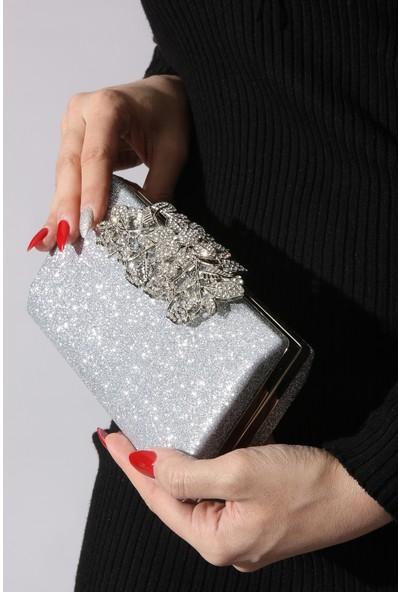 Rovigo Plus Kadın Gümüş Portföy Çanta