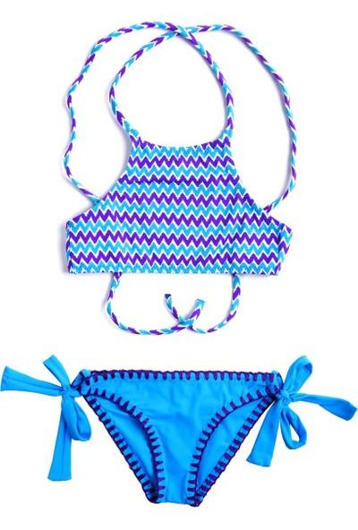 Ayyıldız Kız Çocuk Bikini Takımı 28810 Mor