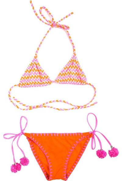 Ayyıldız Kız Çocuk Bikini Takımı 28811 Oranj