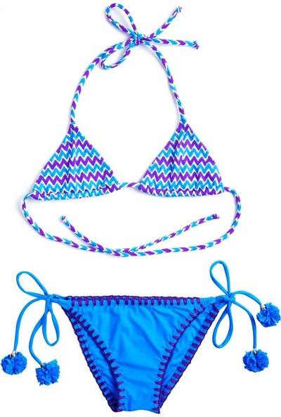 Ayyıldız Kız Çocuk Bikini Takımı 28811 Mor