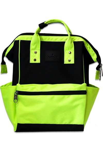 Organicraft Sırt Çantası - Country Backpack - Neongreen Black