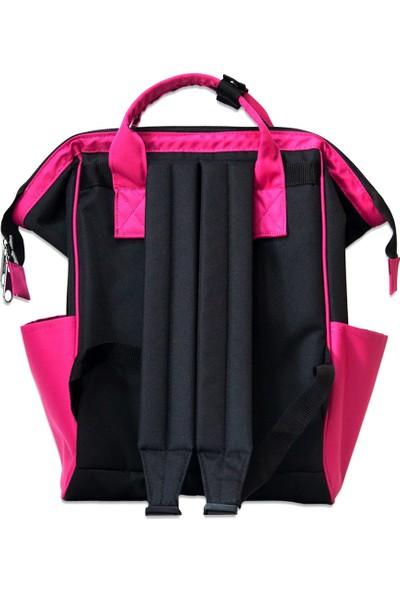 Organicraft Sırt Çantası - Country Backpack - Black Fuchsıa