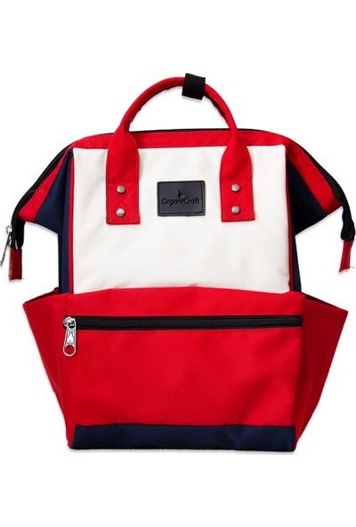 Organicraft Sırt Çantası - Country Backpack - Navyblue Red Beıge